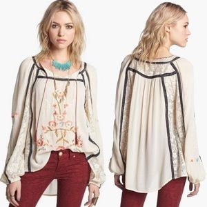 FREE PEOPLE Tiger Lily Peasant Shirt-Plus Size